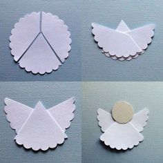 How to make simple origami angel paper craft step by step DIY tutorial instructions / How To Instructions