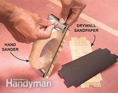 Drywall Sanding Tips and Techniques Home Improvement Loans, Home Improvement Projects, Woodworking Projects Plans, Teds Woodworking, Sanding Tips, Drywall Sander, Drywall Finishing, Hand Sander, Drywall Repair