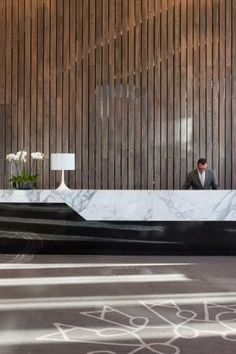 IREA - Marble Reception Desk  Creative and interesting idea   Design and Specify, office design, Leeds,