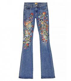 Mother The Cruiser Jeans with floral embroidery