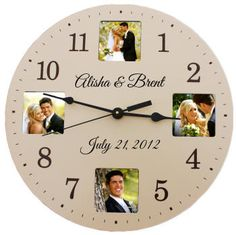 Personalised Clock Wedding Gift India : clock. Whether you purchase this personalized clock as a wedding gift ...