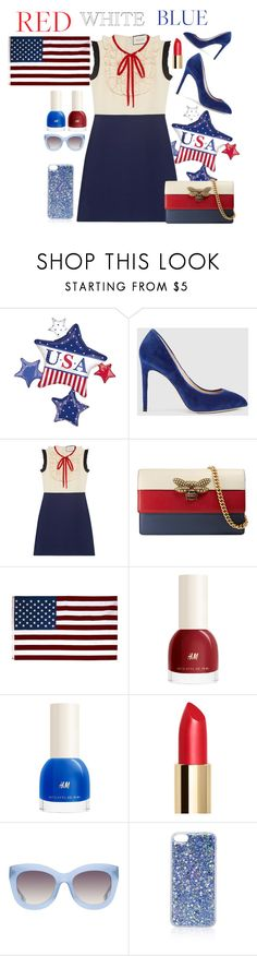 """4 of July"" by bitty-junkkitty ❤ liked on Polyvore featuring Gucci, H&M, Alice + Olivia and Topshop"