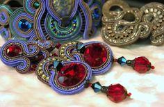 Dori's Purple Haze evening earrings #DoriCsengeri #eveningearrings #elegantearrings #designerjewelry