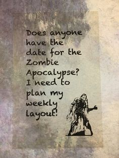 Clear Planner Dashboard, Acetate Dashboard, ZOMBIE APOCALYPSE, Personal Size or A5 Size - Kikki K, Happy Planner, Color Crush Planner by planNIRVANA on Etsy