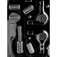 Cybrtrayd Life of the Party Beautician Hair Dresser Chocolate Candy Mold in Sealed Protective Poly Bag Imprinted with Copyrighted Cybrtrayd Molding Instructions Chocolate Lollipop Molds, Chocolate Molds, Candy Making Supplies, Candy Hair, African Crafts, Plastic Molds, Soap Molds, Hard Candy, Mold Making