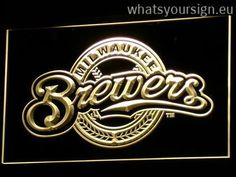 Milwaukee Brewers - Neon sign LED display made of the premium quality clear plastic and bright colorful LED lighting. The neon sign displays exactly the same from every angle thanks to the carving with the newest 3D laser engraving technology. This LED neon sign is a great gift idea! The neon is provided with a metal chain for displaying. Available in 3 sizes in following colours: Red, Blue, Purple, Orange, White, Yellow and Green!