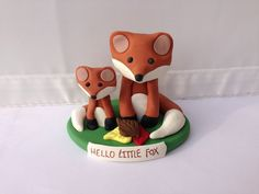 Mommy and Baby Fox Cake Topper and Figurine by LemonRow on Etsy, $22.00