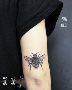 tattoo, black work, Art, tattoos, brooklyn, greenpoint, newyork, nyctattoos, line work, black and grey tattoo, williamsburg, bees, bee, black, wings, bug tattoo, bugs, bug, buzz