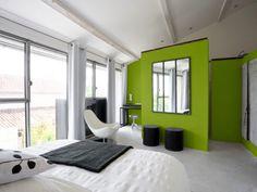 Tendance Greenery : une suite parentale en vert et blanc