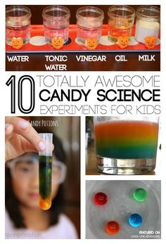 Awesome Candy Science Experiments for Kids | Perfect for Fall Science with kids! Can't wait to try some of these. Froom @lemonlimeadv