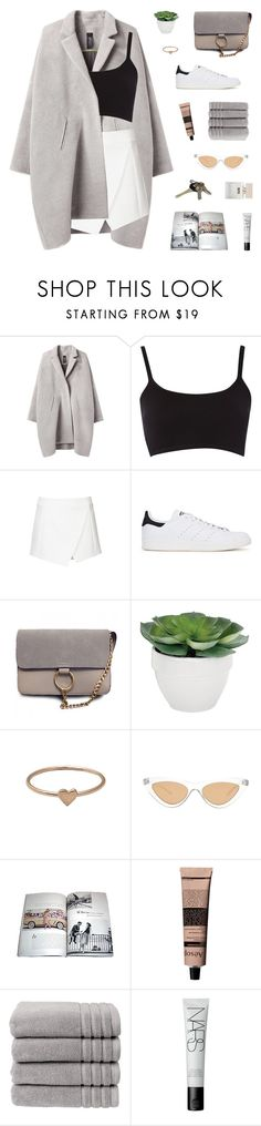 """""""marguerite"""" by m-arian ❤ liked on Polyvore featuring Zero + Maria Cornejo, Topshop, adidas Originals, Torre & Tagus, Catbird, Le Specs, Aesop, Christy, NARS Cosmetics and Bella Freud"""