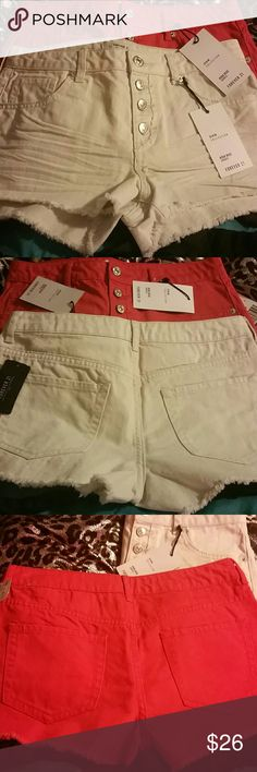 Size 27 Denim shorts I'm selling both pairs together for $26.00 please feel free to make offers I need them to sell they are too big for me now I bought then last year and never got around to wearing them and now they don't fit.  New With Tags Attached.  Thank you happy Poshing! Forever 21 Shorts