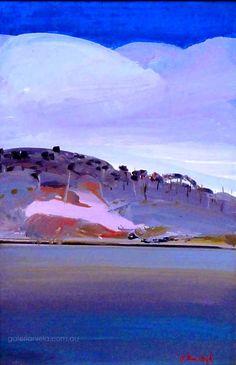 Arthur Boyd Shoalhaven River with Clouds circa 1980 Art Day, Arthur Boyd, Abstract Landscape, Australian Art, Australian Painting, Fine Art Gallery, Landscape Art, Australian Painters, Unusual Art