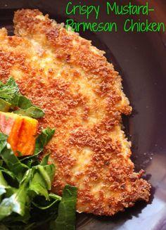 Crispy Mustard-Parmesan Chicken & Raw Collard Greens Salad | Modern Family Cooking