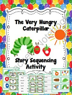 Your little ones will really enjoy this sequencing activity with the favorite story, The Very Hungry Caterpillar by Eric Carle! It's a great activity to use with a thematic unit on spring or butterflies or for an author study during Read Across America in March.