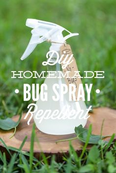 A super easy homemade bug spray that only requires 4 ingredients! This effective DIY bug spray repellent is safe for the whole family. Homemade Bug Spray, Homemade Deodorant, Homemade Beauty Products, Natural Cleaning Products, Household Products, Insecticide, Plant Therapy, Sprays, Health And Beauty