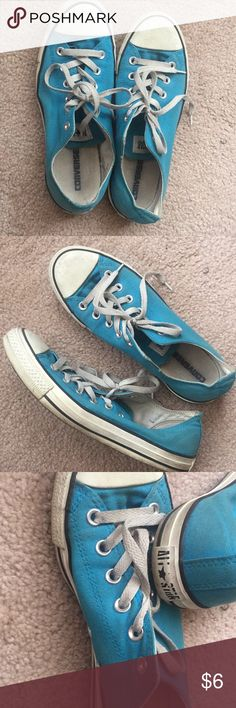 Converse Light blue low all star converse. Worn a few times Converse Shoes Sneakers