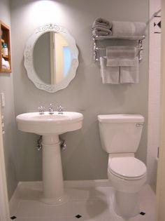 bathroom ideas for small bathroombuilt in shelves. beautiful ideas. Home Design Ideas