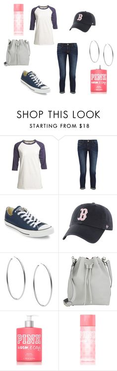 """""""sporty"""" by lotsolove-1 on Polyvore featuring Camp Collection, Frame Denim, Converse, Michael Kors, Proenza Schouler and Victoria's Secret PINK"""