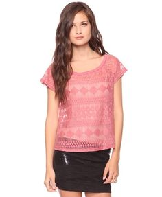 Forever21 - Geo Lace Top  - StyleSays