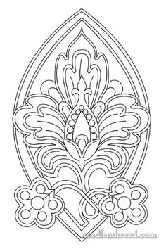 Monday, November 29, 2010  Hand Embroidery Pattern: Another Stylized Pomegranate Design