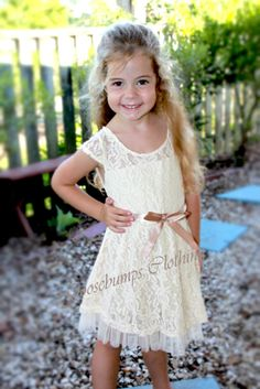 Girls Dress Lace Flower Girl Dresses Party Dress Vintage Toddlers Princess Rosey
