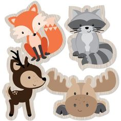 Woodland Creatures - Animal Shaped Decorations DIY Baby Shower or Birthday Party Essentials - Set of 20 Image 2 of 5 Idee Baby Shower, Baby Shower Registry, Shower Bebe, Baby Shower Gifts, Baby Gifts, Woodland Creatures, Woodland Animals, Woodland Creature Baby Shower, Woodland Baby Shower Decor