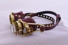 Absolutely gorgeous #Steampunk goggles from Steampunkdesign on Etsy - $125
