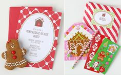 Gingerbread Party Invitaions and Favors - Glorious Treats