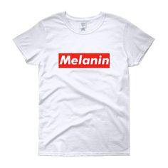 82eee134 Melanin (Tag) - Women's short sleeve t-shirt – My Pride Apparel Melanin