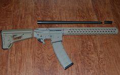 "Parts for my new AR-15 build: Daniel Defense 18"" barrel, Precision Armament muzzle brake, Aero Precision lower receiver, Magpul, Bravo Company upper receiver, Troy Industries hand guard. Aluma-hyde II Epoxy"