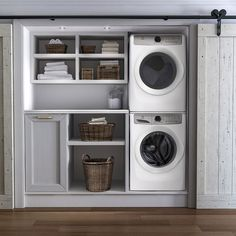 Laundry room cabinets get inspired by our laundry room storage ideas and designs. Allow us to help you create a functional laundry room with plenty of storage and wall cabinets that will keep your laundry. Small Laundry Rooms, Laundry Room Organization, Laundry Room Design, Laundry In Bathroom, Laundry In Kitchen, Basement Laundry, Ideas For Laundry Room, Laundry Basket, Laundry Detergent Storage