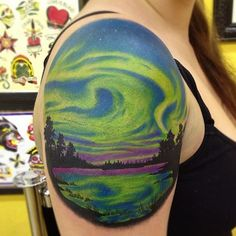 TATTOOS.ORG - My beautiful Northern Lights done by Brian Macneil...