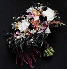 Dark beauty bridal bouquet