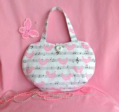 Little Girls Bag, Small handbag, Cute Girls bag, White small bag, Pink bag