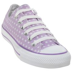 Tenis Converse All Star Print Polka Dot Double Tongue Ox Lilac Little Fashion, Converse All Star, Star Print, Ox, Chuck Taylor Sneakers, Chuck Taylors, Lilac, Polka Dots, My Style