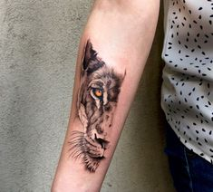 50 Eye-Catching Lion Tattoos That'll Make You Want To Get Inked - KickAss Things - lioness tattoo - Tiger Hand Tattoo, Hand Tattoos, Lion Head Tattoos, Leo Tattoos, Best Sleeve Tattoos, Animal Tattoos, Body Art Tattoos, Tigeraugen Tattoo, Big Cat Tattoo