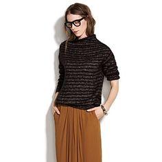 Women's NEW ARRIVALS - sweaters - Metallic Slideshow Sweater - Madewell - StyleSays