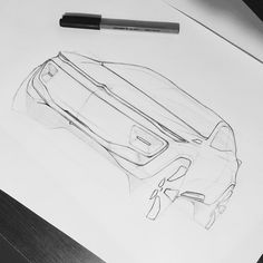 """Mi piace"": 71, commenti: 1 - Luca Menicacci (@luca_menicacci) su Instagram: ""Sketch time | Citroen #carpassion #sketch #cardesign #design #doodle #transportation #citroen…"""
