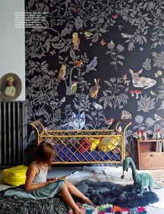 Anabel Gueret Nantes - I would die if I could put that wallpaper in a baby nursery
