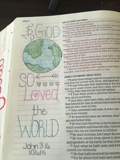 John 3:16 KJV bible journaling. Lindsey Ramsey