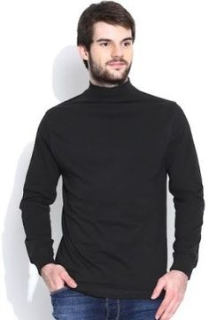 Dream Of Glory Inc. Solid Men's Turtle Neck T-Shirt - Buy Black Dream Of Glory Inc. Solid Men's Turtle Neck T-Shirt Online at Best Prices in India   Flipkart.com