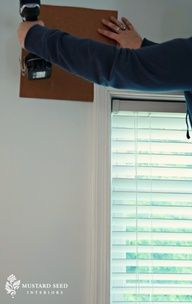 Smart Tip: Tutorial on creating a template for hanging curtain rods the same height/distance every time...no more measuring and leveling over and over!  GENIUS!!