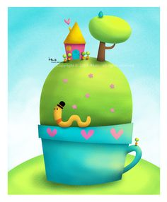 ..hill in a cup.. by iMais.deviantart.com on @deviantART
