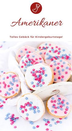 Amerikaner – kleine Kuchen mit Nostalgie-Faktor Cake Recipes, Kids Recipes: Recipe for Americans, the little pastry that not only kids love so much. Finger food on the cake table with a lot of love! Easy Cake Recipes, Baking Recipes, Dessert Recipes, Desserts, American Cupcakes, Cupcakes Amor, Pastas Recipes, Childrens Meals, Isagenix