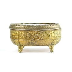 '40s Brass Box With Red Lining, $68, now featured on Fab.