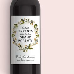 Pregnancy Announcement Baby Announcement Wine door LabelWithLove