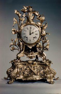 Musical mantel clock Clockmaker: Jean Baptiste Martre  (born 1734, working 1770–85).  Founder:     Cast by Dumont. Date:     ca. 1770. Culture:     French (Bordeaux). Medium:     Case of gilt bronze.