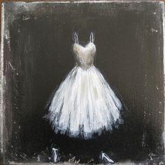 The Dress Original Painting by KirstenHagen on Etsy, $180.00