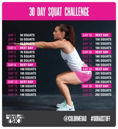 Doing this squat challenge with my friends! Let's see if I have rocking buns after 30 days. 30 Day Squat Challenge, Weight Loss Challenge, Workout Challenge, Workout Plans, Workout Ideas, Fitness Diet, Health Fitness, Gym Routine, I Work Out